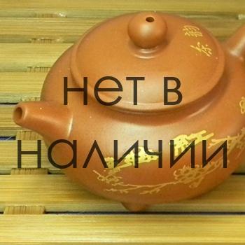 Чайник из глины - золотая роспись